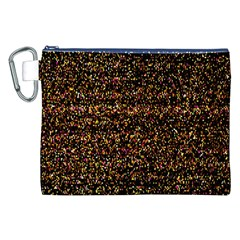 Colorful And Glowing Pixelated Pattern Canvas Cosmetic Bag (xxl)