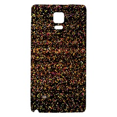 Colorful And Glowing Pixelated Pattern Galaxy Note 4 Back Case