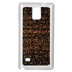 Colorful And Glowing Pixelated Pattern Samsung Galaxy Note 4 Case (white)