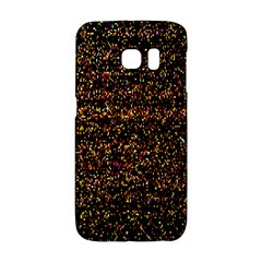Colorful And Glowing Pixelated Pattern Galaxy S6 Edge