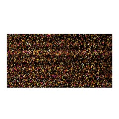 Colorful And Glowing Pixelated Pattern Satin Wrap