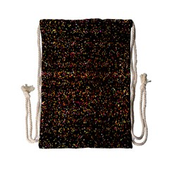Colorful And Glowing Pixelated Pattern Drawstring Bag (Small)