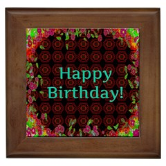 Happy Birthday To You! Framed Tiles