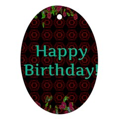 Happy Birthday To You! Ornament (oval)