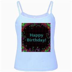 Happy Birthday To You! Baby Blue Spaghetti Tank