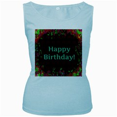 Happy Birthday To You! Women s Baby Blue Tank Top