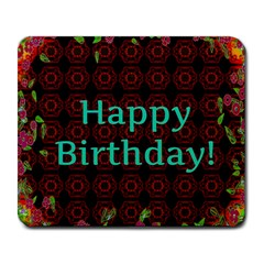 Happy Birthday To You! Large Mousepads