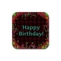 Happy Birthday To You! Rubber Coaster (Square)