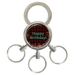 Happy Birthday To You! 3-Ring Key Chains