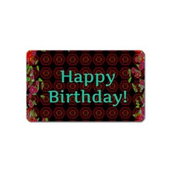 Happy Birthday To You! Magnet (name Card)