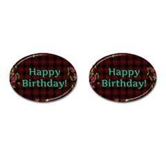 Happy Birthday To You! Cufflinks (oval)
