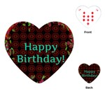 Happy Birthday To You! Playing Cards (Heart)  Front