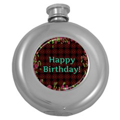 Happy Birthday To You! Round Hip Flask (5 Oz)