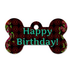 Happy Birthday To You! Dog Tag Bone (two Sides)