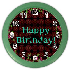 Happy Birthday To You! Color Wall Clocks