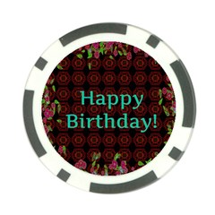 Happy Birthday To You! Poker Chip Card Guard