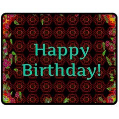Happy Birthday To You! Fleece Blanket (medium)