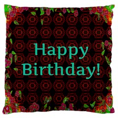 Happy Birthday To You! Large Cushion Case (two Sides)