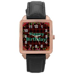 Happy Birthday To You! Rose Gold Leather Watch