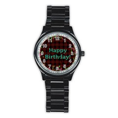 Happy Birthday To You! Stainless Steel Round Watch