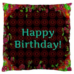Happy Birthday To You! Large Flano Cushion Case (one Side)