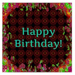 Happy Birthday To You! Large Satin Scarf (square)