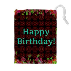 Happy Birthday To You! Drawstring Pouches (extra Large)