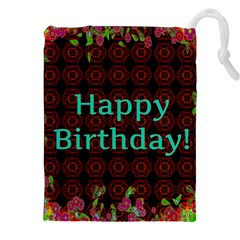 Happy Birthday To You! Drawstring Pouches (xxl)