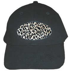 Tiger Background Fabric Animal Motifs Black Cap