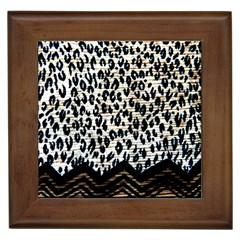 Tiger Background Fabric Animal Motifs Framed Tiles