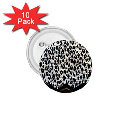 Tiger Background Fabric Animal Motifs 1 75  Buttons (10 Pack)