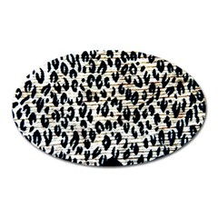 Tiger Background Fabric Animal Motifs Oval Magnet