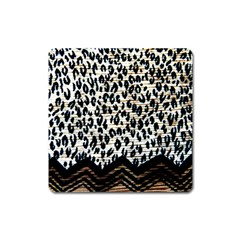 Tiger Background Fabric Animal Motifs Square Magnet