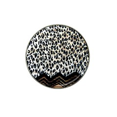 Tiger Background Fabric Animal Motifs Hat Clip Ball Marker (4 Pack)