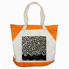 Tiger Background Fabric Animal Motifs Accent Tote Bag