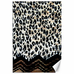 Tiger Background Fabric Animal Motifs Canvas 12  X 18