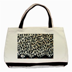 Tiger Background Fabric Animal Motifs Basic Tote Bag (two Sides)