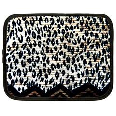 Tiger Background Fabric Animal Motifs Netbook Case (Large)