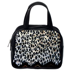 Tiger Background Fabric Animal Motifs Classic Handbags (one Side)