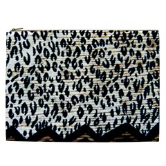 Tiger Background Fabric Animal Motifs Cosmetic Bag (xxl)
