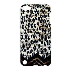 Tiger Background Fabric Animal Motifs Apple Ipod Touch 5 Hardshell Case