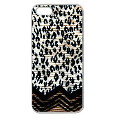 Tiger Background Fabric Animal Motifs Apple Seamless Iphone 5 Case (clear)