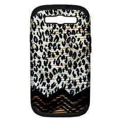 Tiger Background Fabric Animal Motifs Samsung Galaxy S Iii Hardshell Case (pc+silicone)