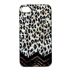 Tiger Background Fabric Animal Motifs Apple Iphone 4/4s Hardshell Case With Stand