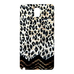 Tiger Background Fabric Animal Motifs Samsung Galaxy Note 3 N9005 Hardshell Back Case