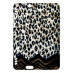 Tiger Background Fabric Animal Motifs Kindle Fire Hdx Hardshell Case
