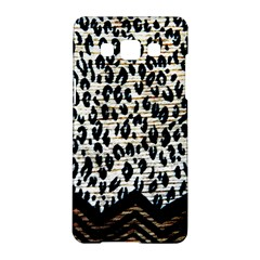 Tiger Background Fabric Animal Motifs Samsung Galaxy A5 Hardshell Case