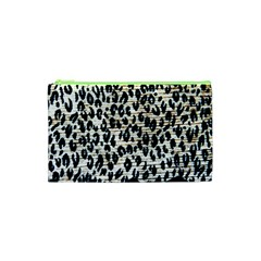 Tiger Background Fabric Animal Motifs Cosmetic Bag (xs)