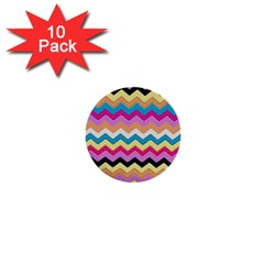 Chevrons Pattern Art Background 1  Mini Buttons (10 Pack)
