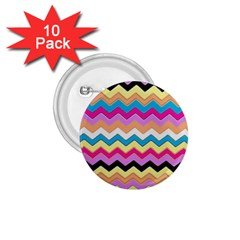 Chevrons Pattern Art Background 1 75  Buttons (10 Pack)